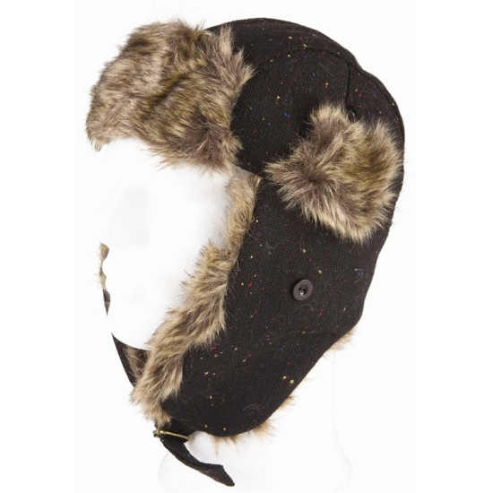 Warme bontmuts zwart
