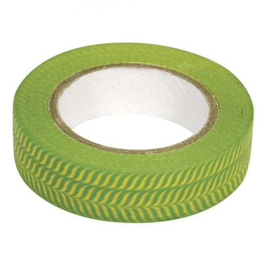 Washi tape visgraat groen