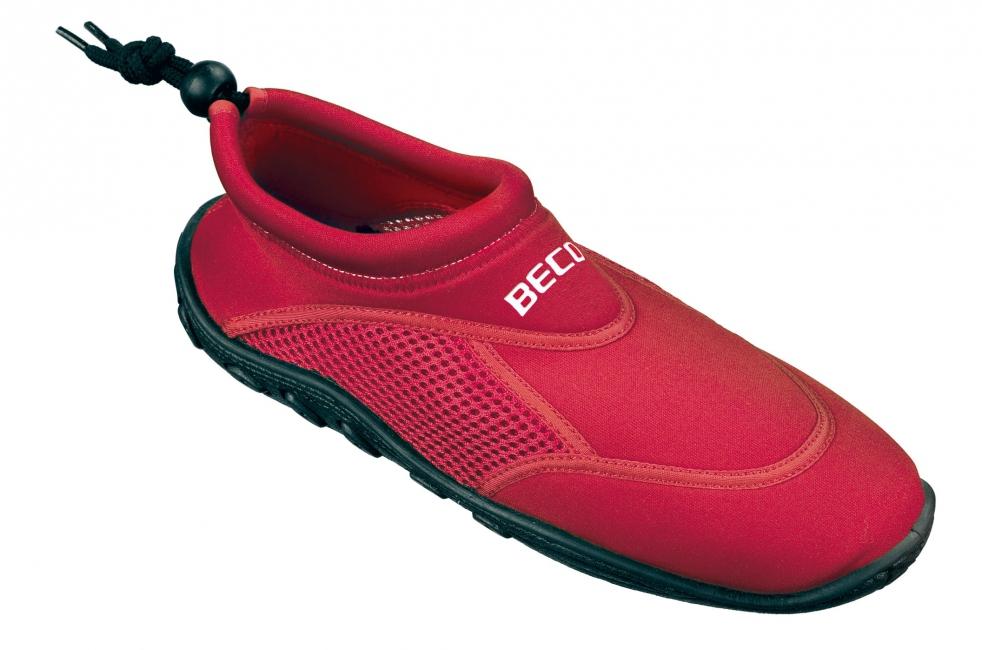 Waterschoen rood met anti slip zool