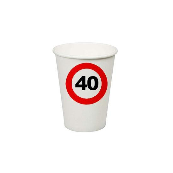 Wegwerp bekertjes 40 jaar verjaardag