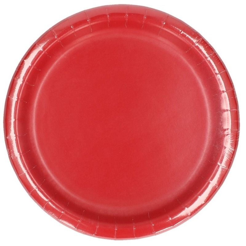 Wegwerp borden rood 8 stuks