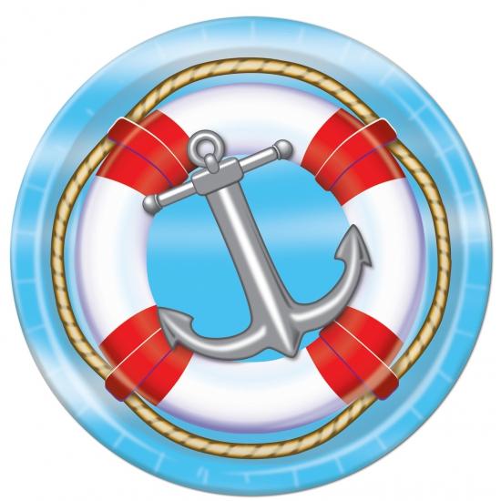 Wegwerp bordjes met boot thema