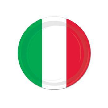Wegwerp bordjes rood, groen en wit