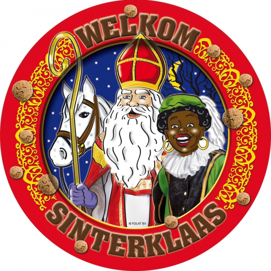 Wegwerp bordjes van Sinterklaas 8 stuks