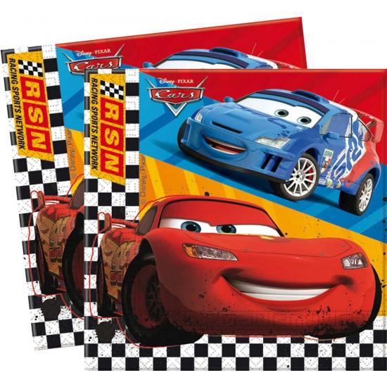 Wegwerp servetjes van Cars 20 stuks
