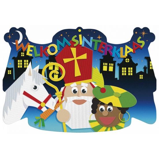 Welkom Sinterklaas decoratiebord