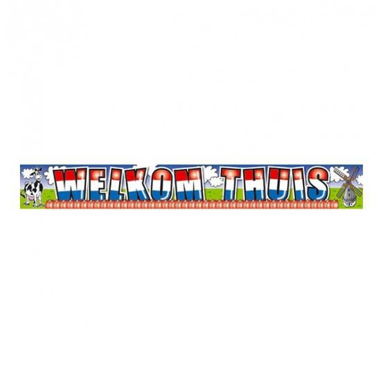 Welkom thuis banner 5 x 10 meter