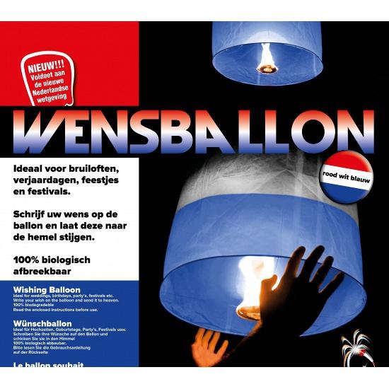 Wensballon Holland kleuren