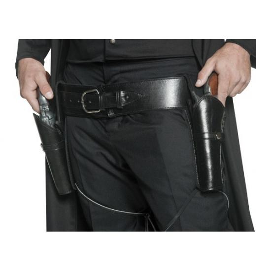 Western riem met holsters zwart
