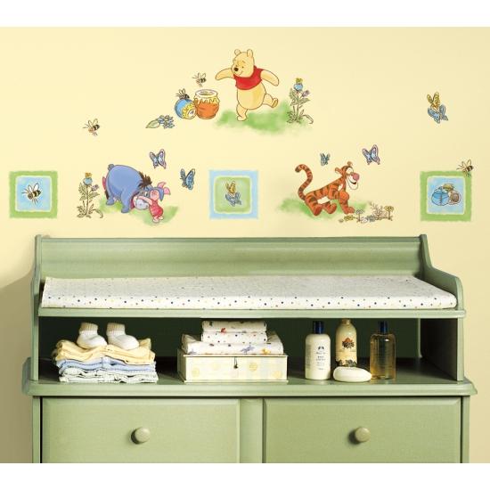 Winnie de Poeh stickers voor op de muur
