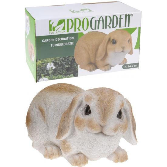 Wit konijn beeldje 28 cm