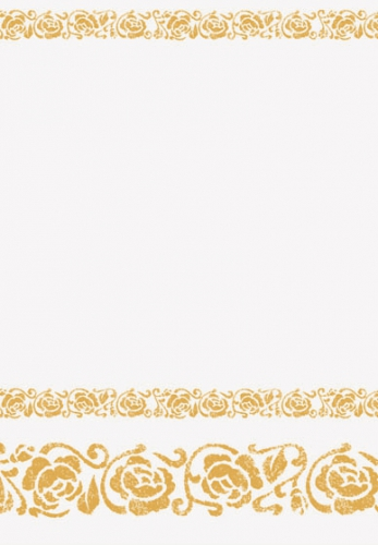 Wit met gouden rozen tafelkleed 120 x 180cm