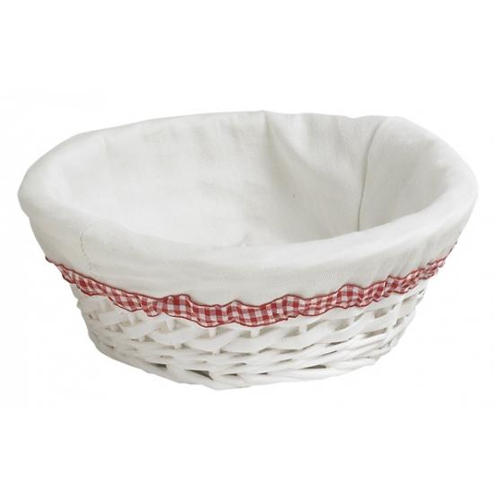 Wit met rood mandje 24 cm