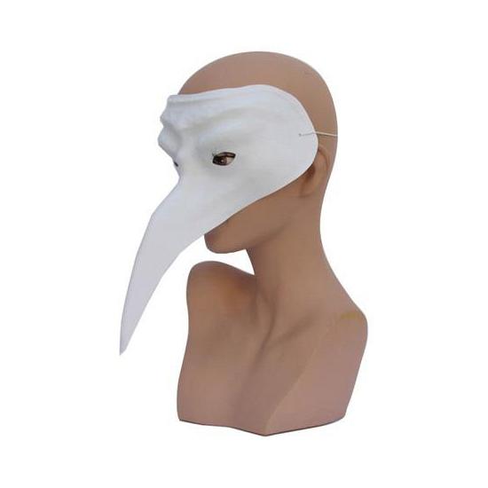 Wit snavelmasker gemaakt van plastic