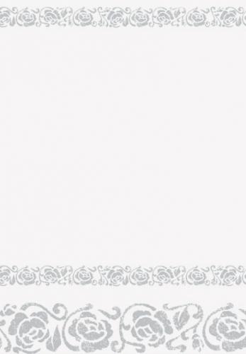Wit tafelkleed met zilveren rozen