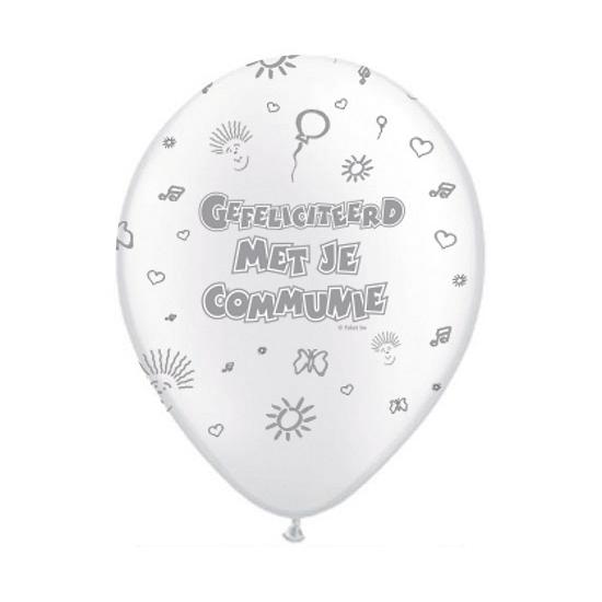 Witte ballonnen Communiefeestje