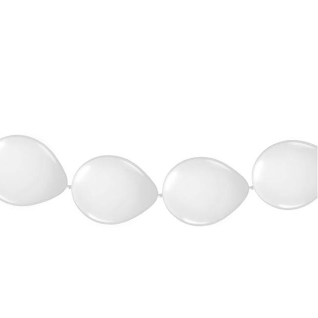 Witte ballonnen slinger 3 meter