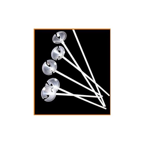 Witte ballonstokjes per stuk