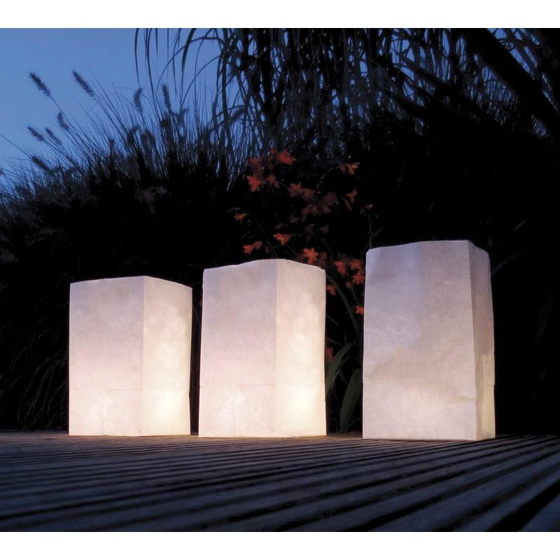 Witte Candle Bags set 5 stuks