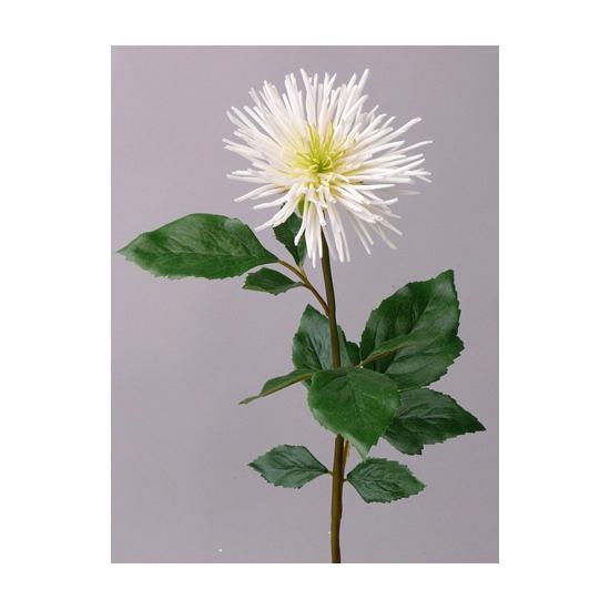 Witte Chrysant nep bloem 71 cm