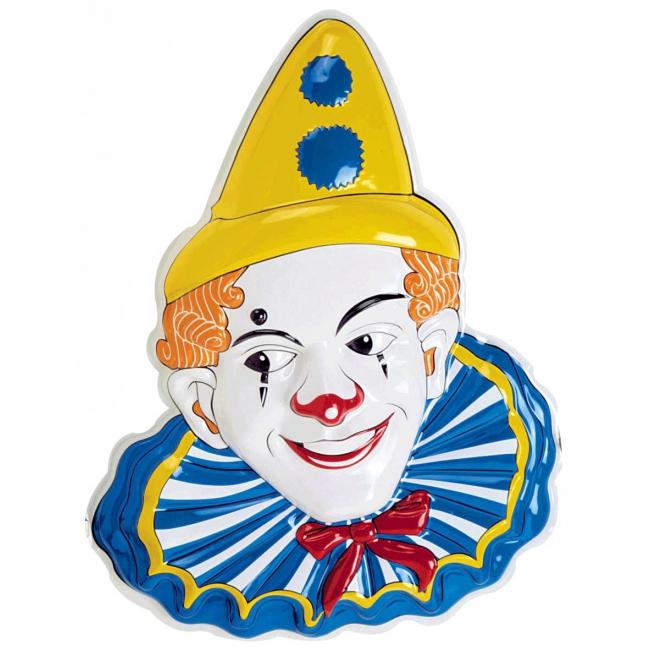 Witte clown decoratie 65 cm
