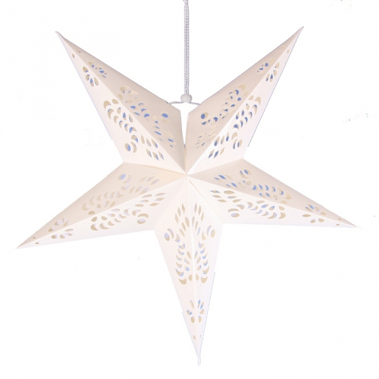 Witte decoratie ster 60 cm