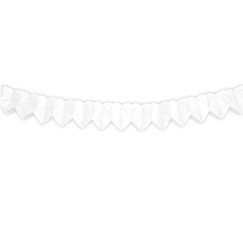 Witte hartjes slinger 2 meter