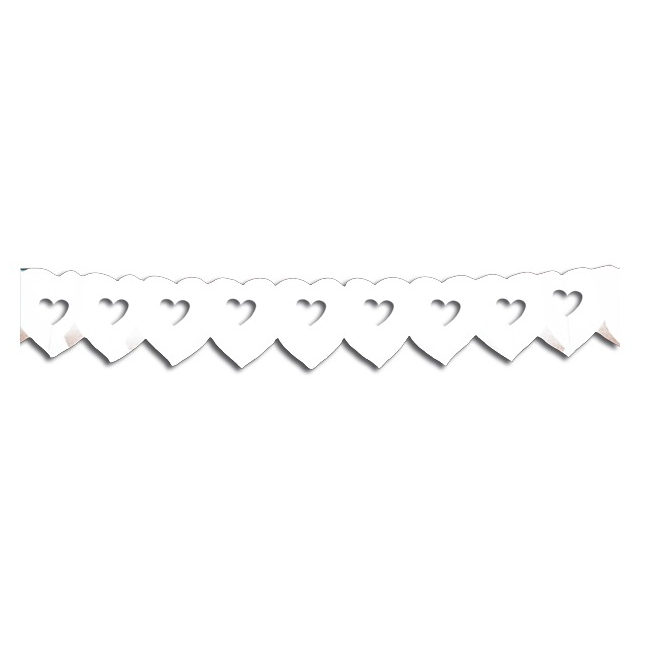 Witte hartjes slinger 6 meter