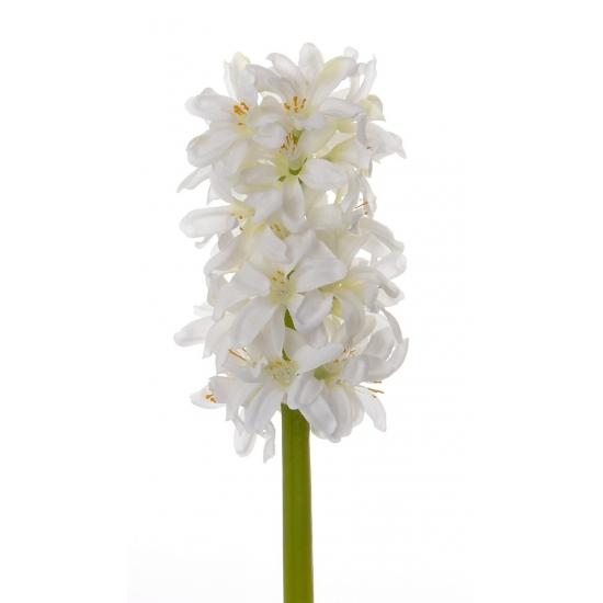 Witte hyacint bloemen 30 cm