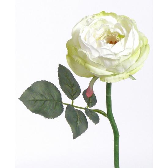 Witte rozen kunst bloem 33 cm