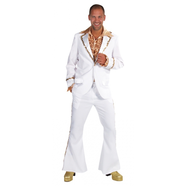 Witte seventies outfit heren