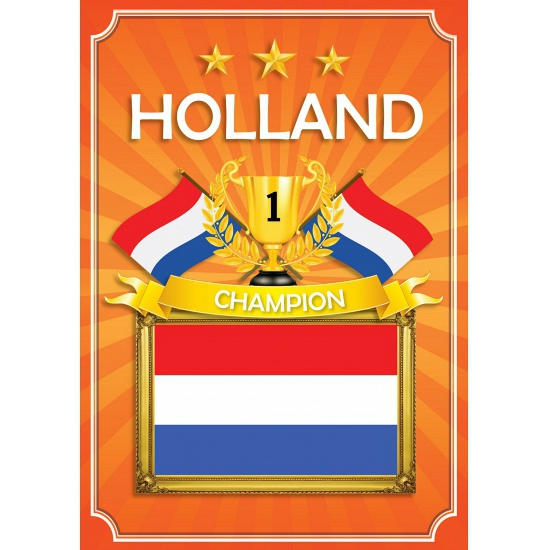 WK Holland deurposter