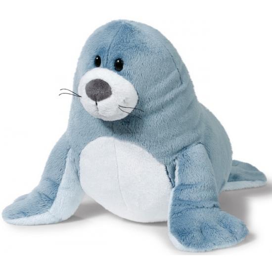 Zachte knuffel grijze zeehond 50 cm