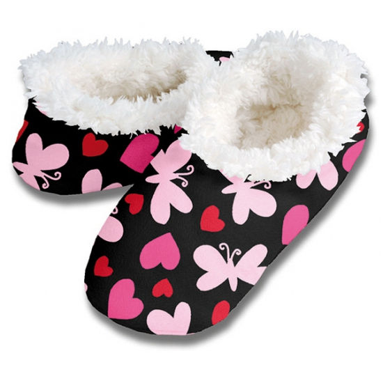 Zachte winter pantoffels vlinder print