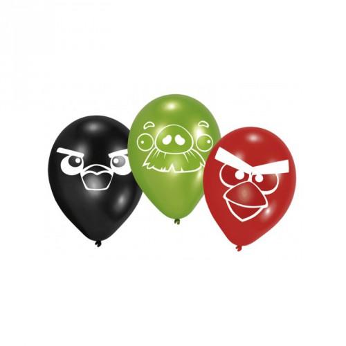 Zes latex Angry Birds ballonnen