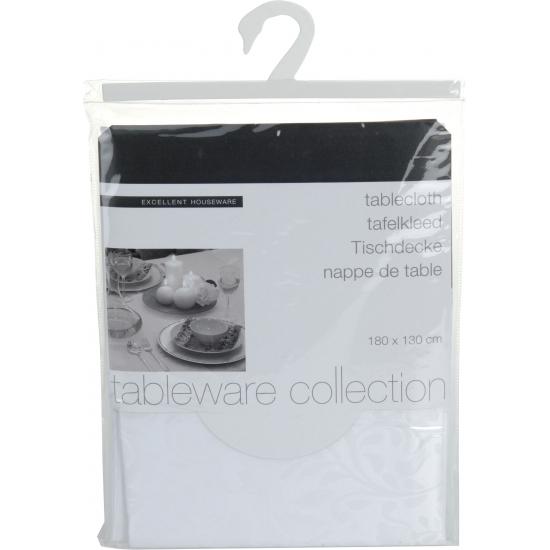 Zilveren polyester tafelkleed 180 x 130 cm