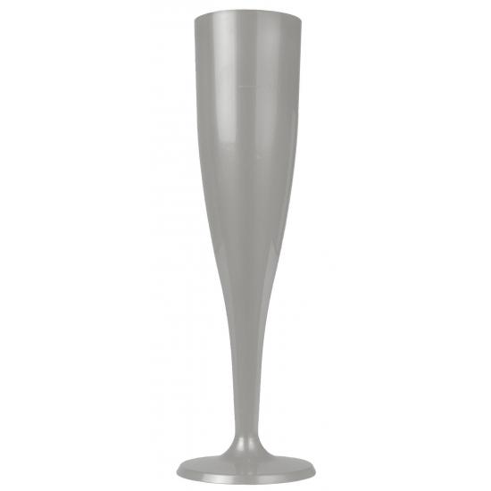Zilveren prosecco glazen 6 stuks