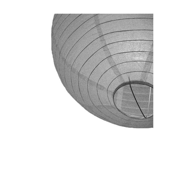 Zilveren ronde lampion 25 cm