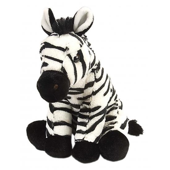 Zittend zebra knuffeltje 30 cm