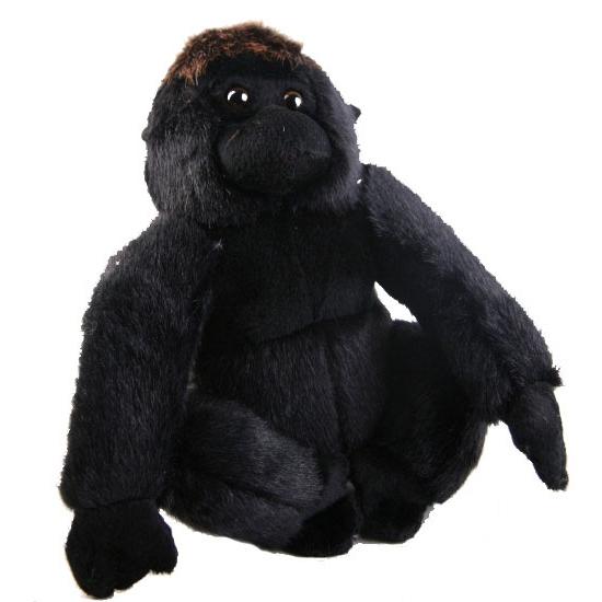Zittende gorilla knuffel 20 cm
