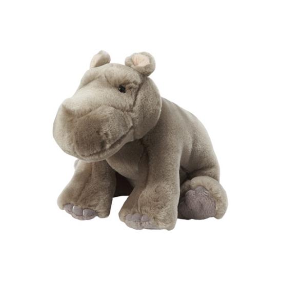 Zittende nijlpaard knuffel 18 cm