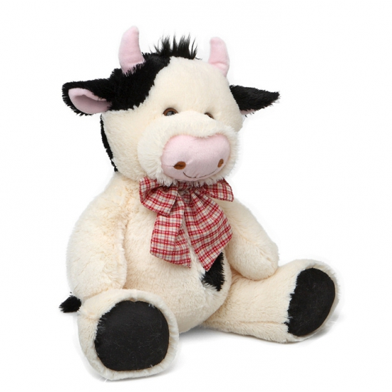 Zittende pluche koe 30 5 cm
