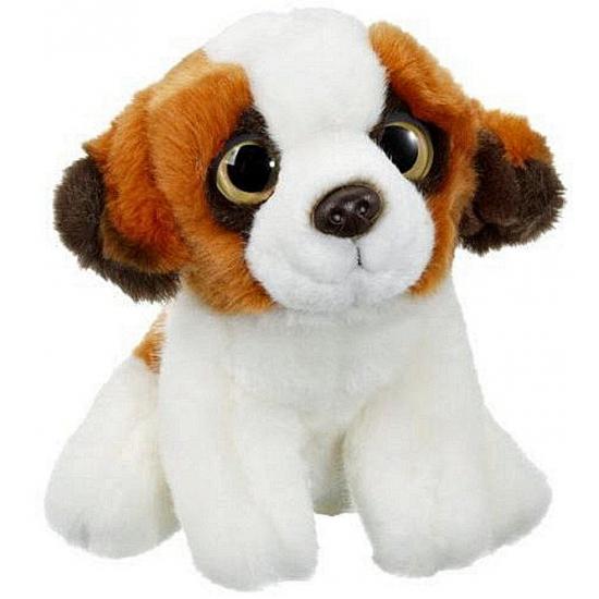 Zittende Sint Bernard hond knuffeldier 20 cm