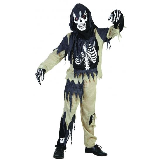 Zombie skeletten kostuum kinderen