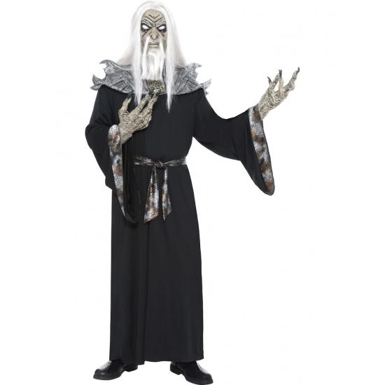Zombie tovenaar kostuum met masker