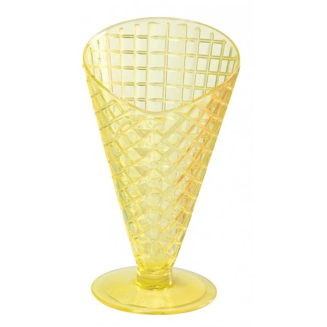 Zomer ijscoupes 9.2 cm geel