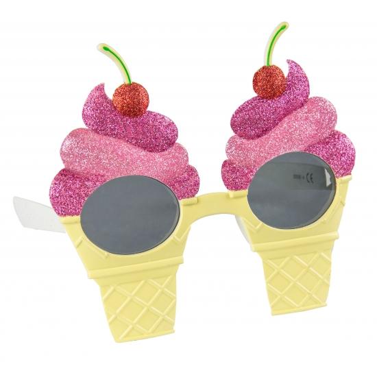 Zomer sundae ijsjes bril