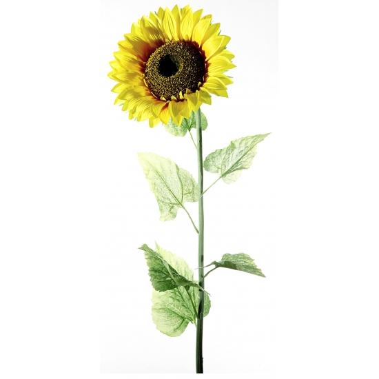 Zonnebloemen van plastic 140 cm