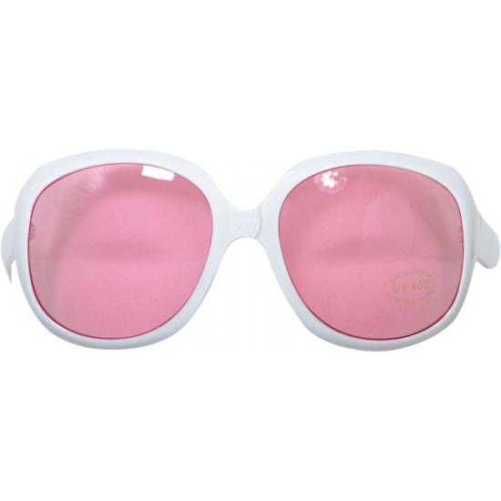 Zonnebrillen wit mer roze glazen