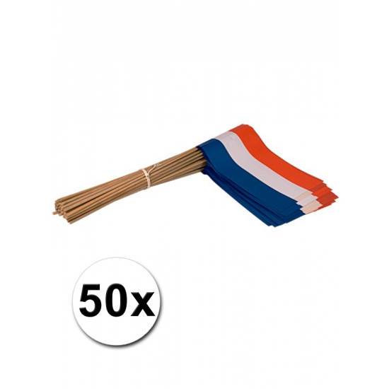 Zwaaivlaggetjes Holland 50 stuks